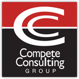 Image of black and red Compete Consulting Group Logo